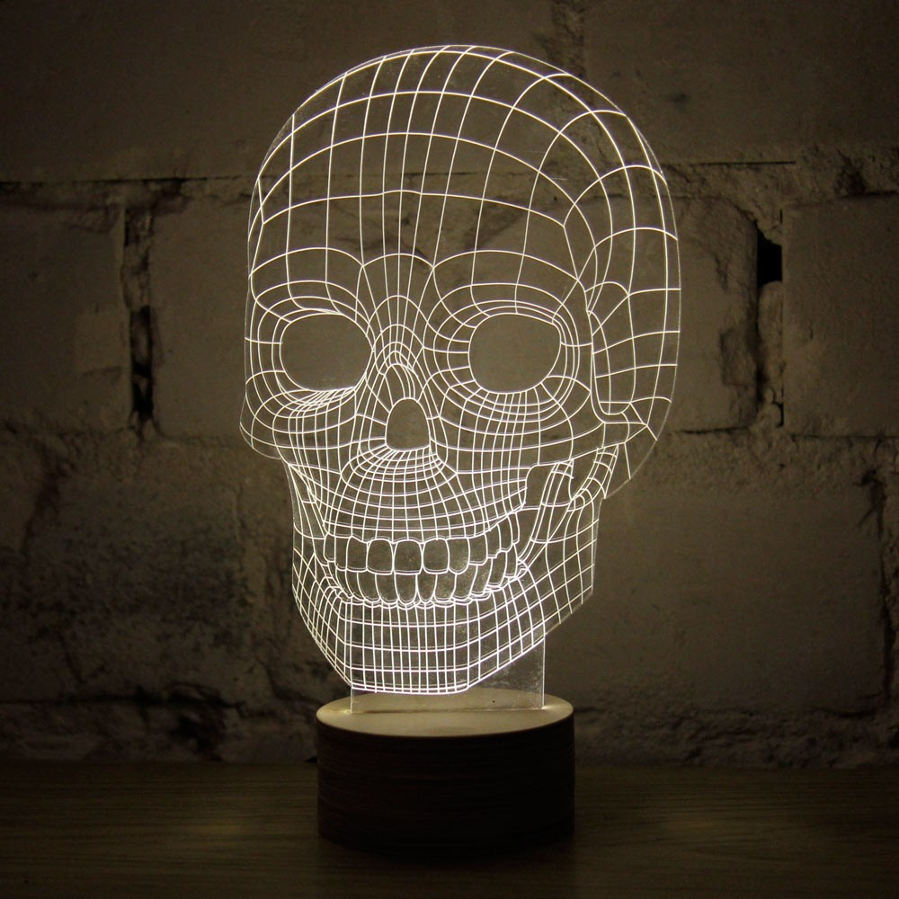 3d skull lampe totenkopf beleuchtung in 3d optik tradokay. Black Bedroom Furniture Sets. Home Design Ideas