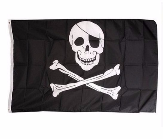Piratenfahne, Totenkopf Flagge Skull XL