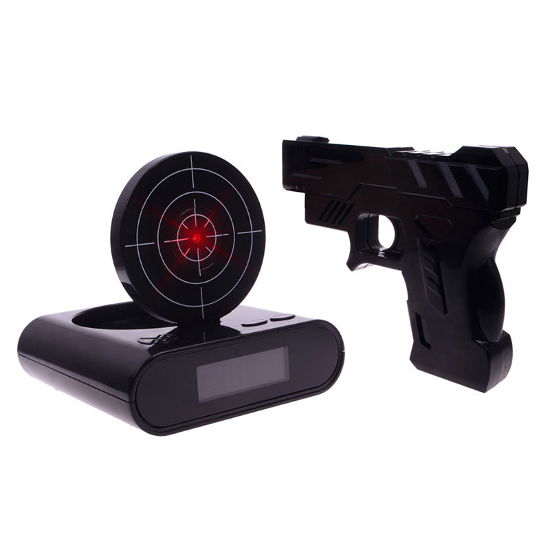 Shooter LCD Wecker, Shooting Gun Alarm